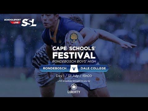 Cape Schools: Rondebosch 1st XV vs Dale College 1st XV,  01 July