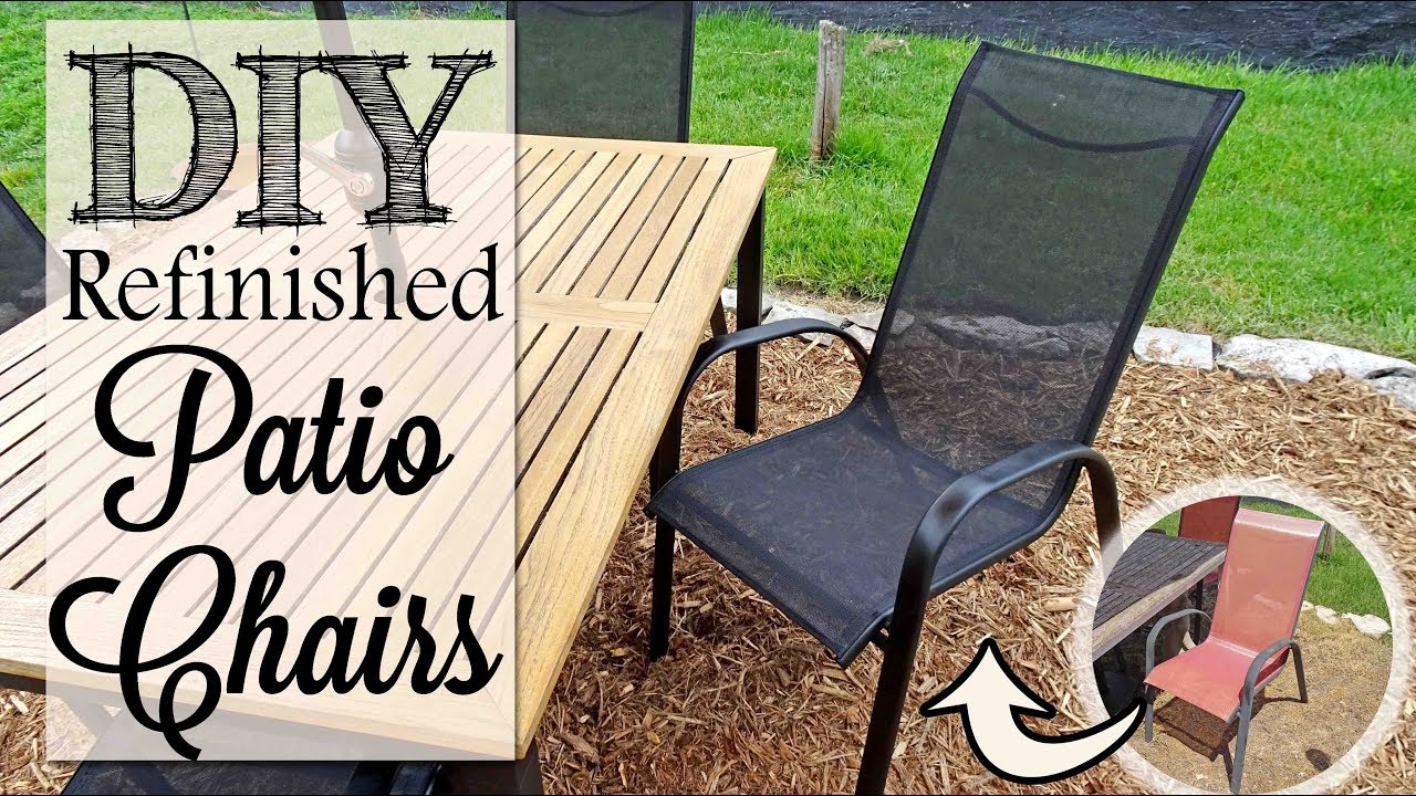 diy refinished patio chairs