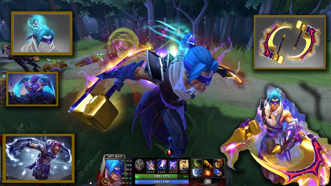 Dota 2 Anti Mage Mix Set Golden Basher Blades With Guilt