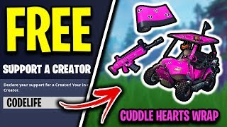 "* FREE* Wie man UNLOCK ""Cuddle Hearts"" Fortnite Wrap (EVENT)"