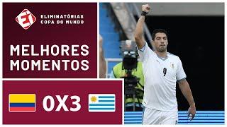 COLÔMBIA 0 X 3 URUGUAI - MELHORES MOMENTOS - ELIMINATÓRIAS DA COPA 2022
