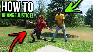 "HOW TO ""ORANGE JUSTICE"" DANCE TUTORIAL! EASY FORTNITE DANCE TUTORIAL!"