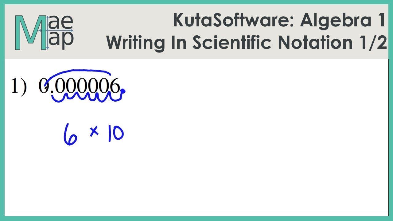 KutaSoftware: Algebra 1- Writing In Scientific Notation Part 1 - YouTube