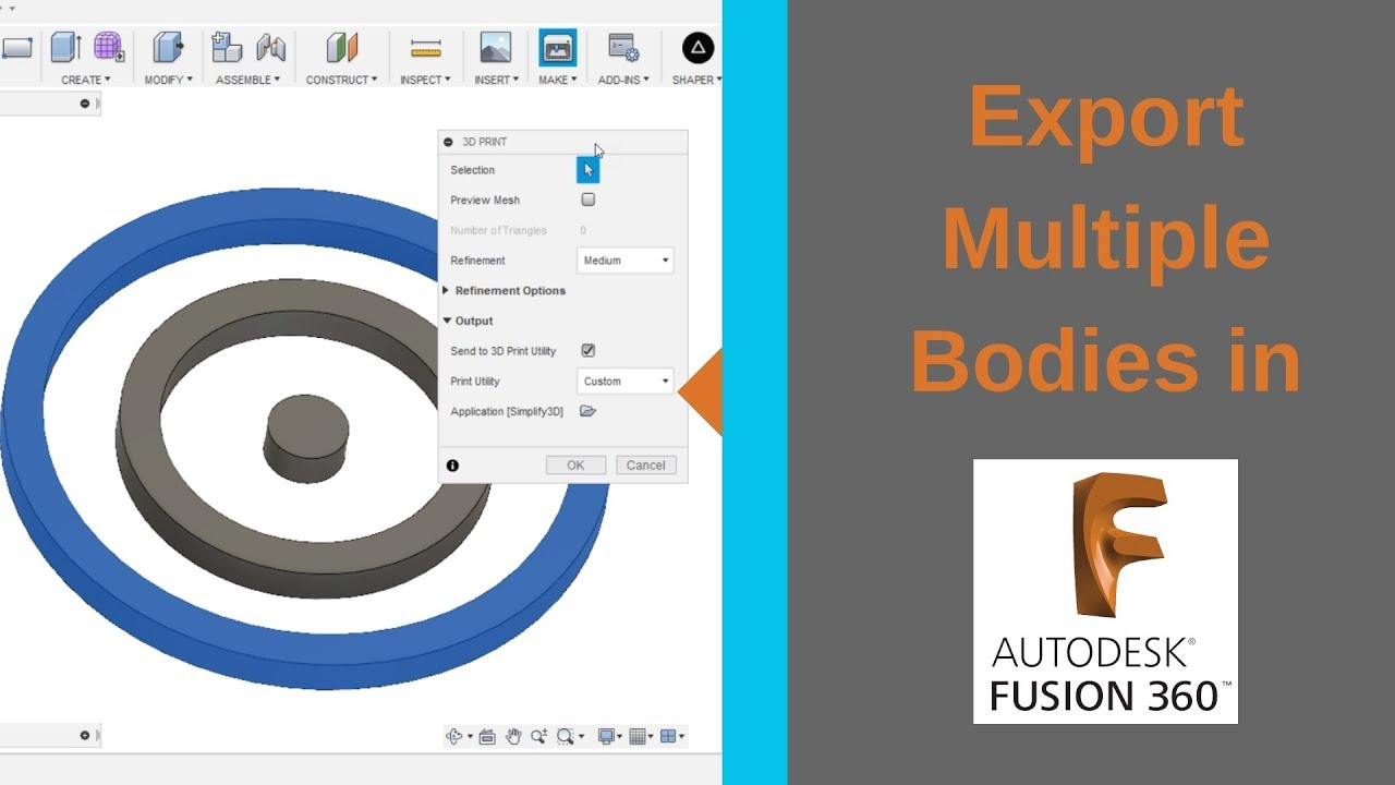 Exporting Multiple Bodies As One STL File in Fusion 360: 5 Steps