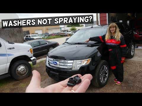 WINDSHIELD WASHER NOT SPRAYING FIX FORD EDGE FLEX LINCOLN MKX FUSION TAURUS