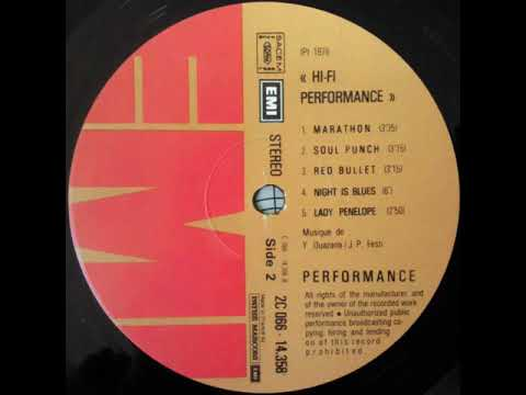"""Download Performance """"Red bullet"""" 1976 Pathé Marconi EMI"""