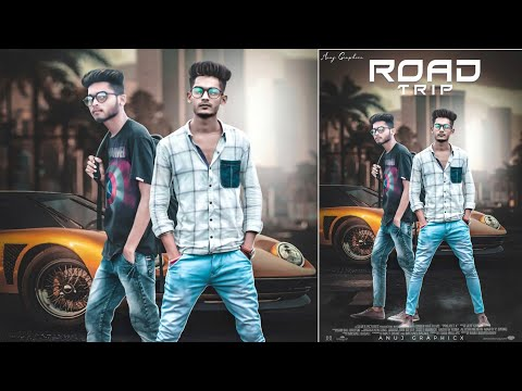 Road Trip || Model Tutorial || How to edit a model photo || Anuj Graphicx thumbnail