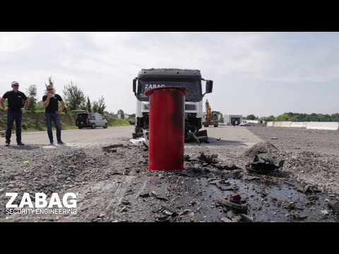 ZABAG Security Engineering GmbH - Bollard-Crashtest