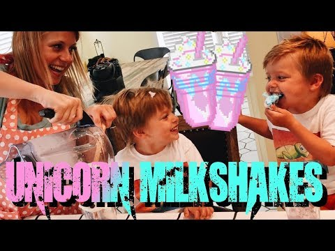 How to Make Unicorn Freakshakes!  Messitt Twins and Jodie Sweetin from Fuller House