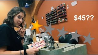 going to the WORST reviewed nail salon in my city (1.5 stars!)