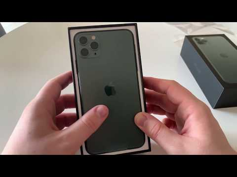 Apple IPhone 11 Pro Max 512GB Midnight Green Unboxing