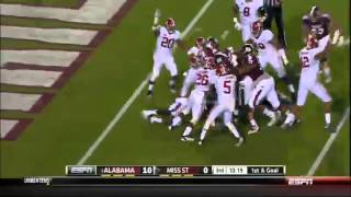 11/16/2013 Alabama vs Mississippi State Football Highlights