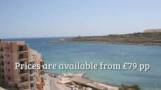 3* Self Catering Malta  Beach Holidays from £79 pp