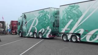 aankomst Assen Scania R560 Hotrod uit zweden 2015,the best of show