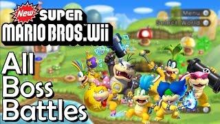 New Super Mario Bros. Wii - All Boss Battles