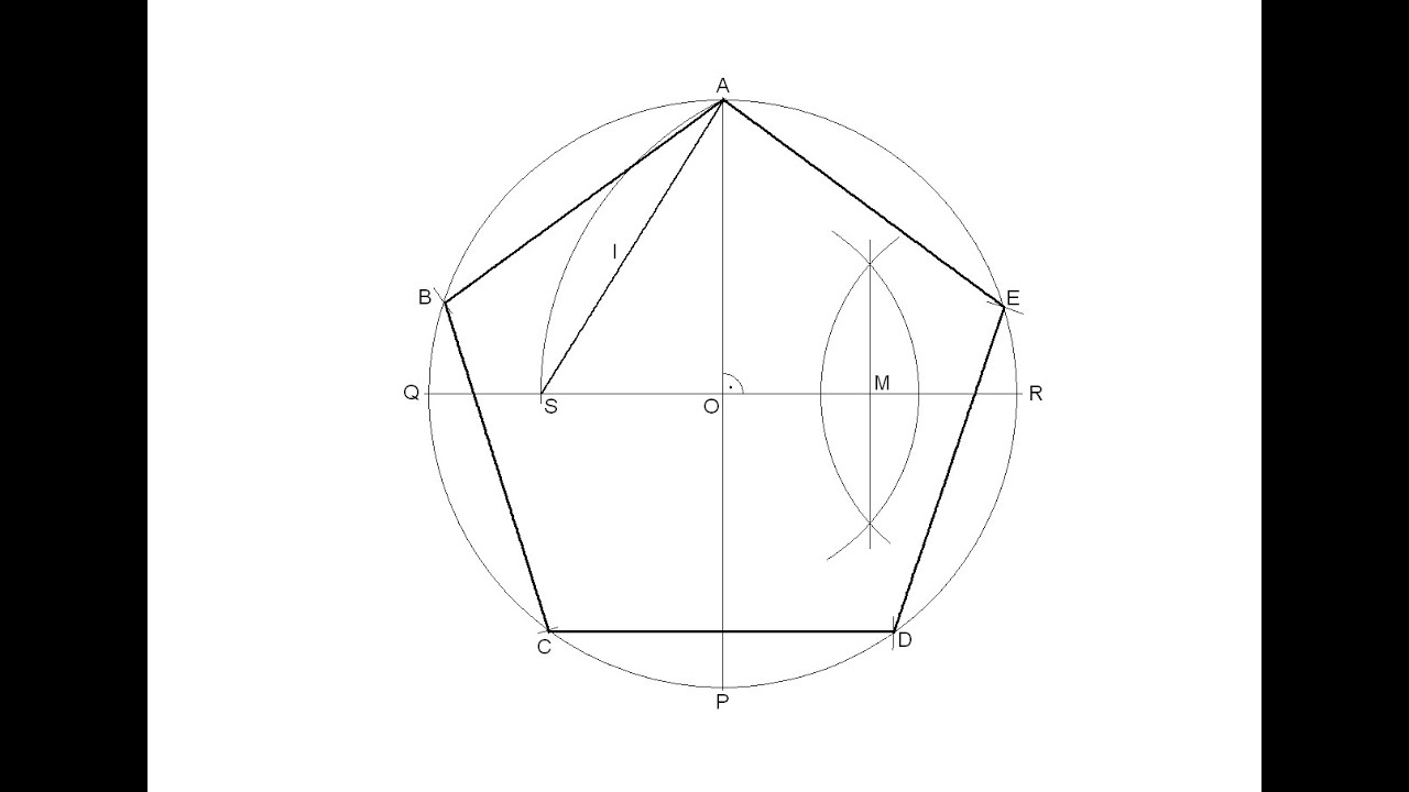 How to draw a regular pentagon inscribed in a circle