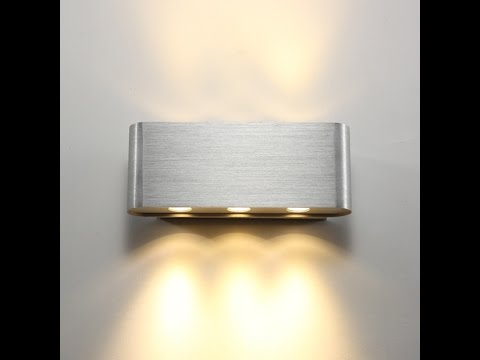 Wall Mounted Lights Interior : Surface Mounted Interior LED Wall Lights - Energy Saving Contemporary Designs - YouTube