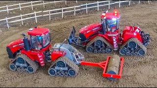 RC tractors with tracks in ACTION! Case, John Deere, Cat & Co at work!