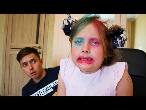 Kinderlieder Und Lernfarben & Baby Gombal Candy Kids Children / dresses up and does makeup