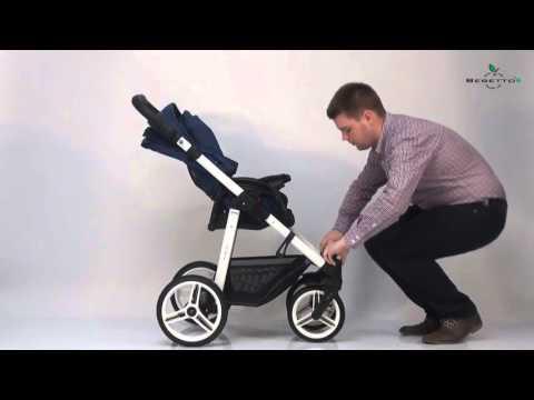 Прогулочная коляска Bebetto rainbow краткий обзор - YouTube