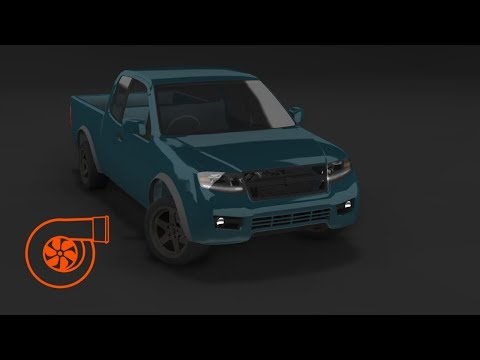BeamNG.drive - Supercharged V8 Ibishu Vertex - West Coast USA Time Attack