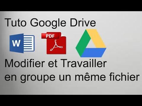 Comment Modifier à plusieurs un même document en ligne   Tuto Google Drive