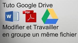 Comment Modifier à plusieurs un même document en ligne | Tuto Google Drive