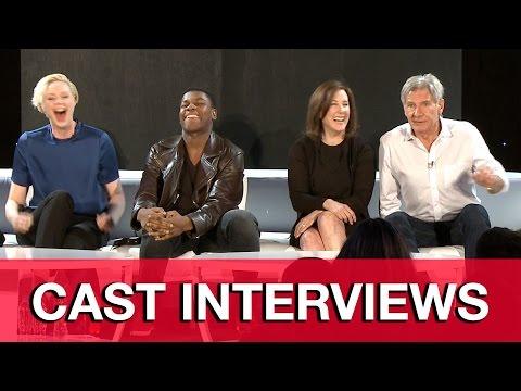 Star Wars The Force Awakens Press Conference - Harrison Ford, John Boyega, Gwendoline Christie