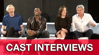 STAR WARS THE FORCE AWAKENS Cast Interviews - Harrison Ford, John Boyega, Gwendoline Christie