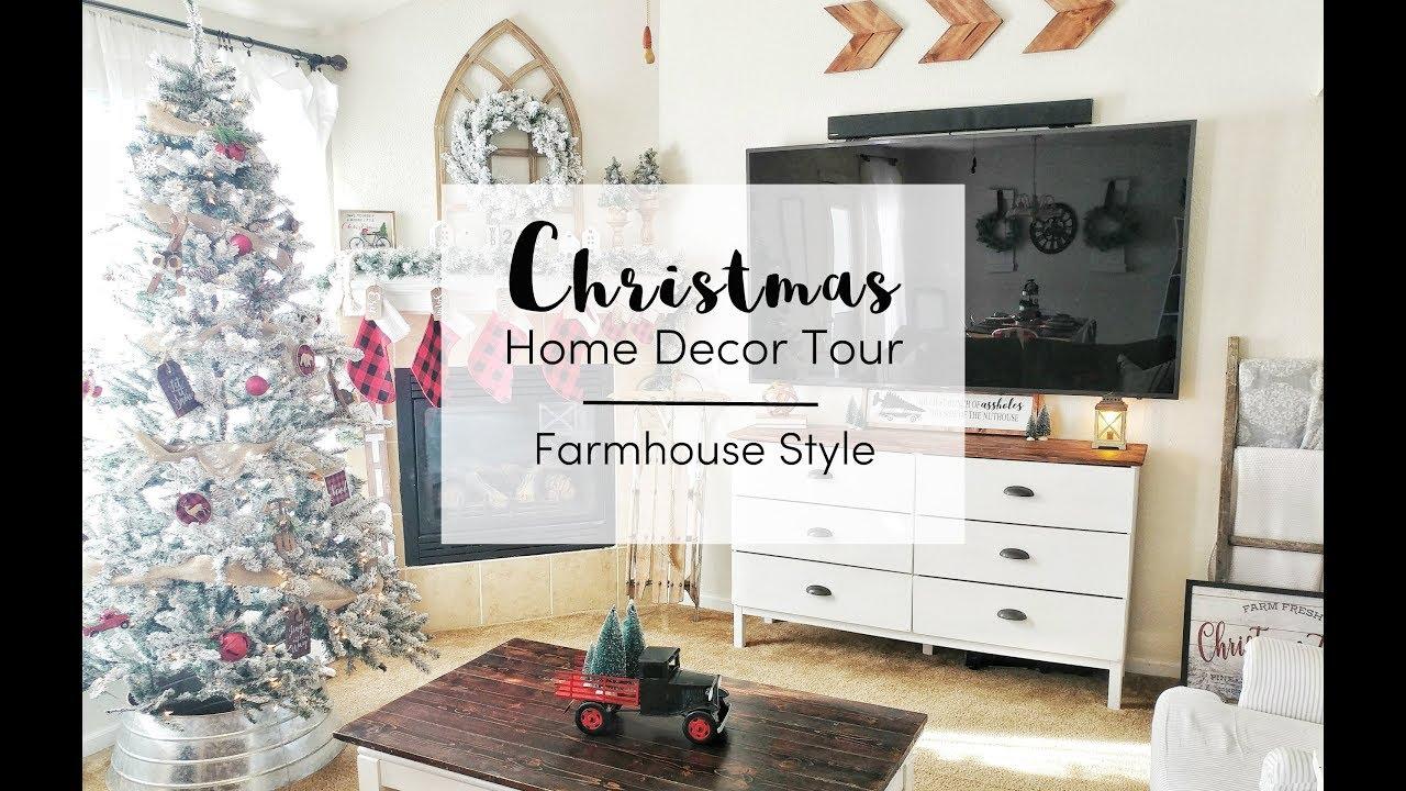Christmas Home Decor Tour 2018 Farmhouse Style Buffalo Check