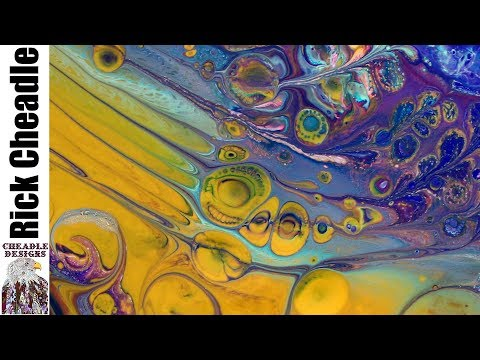 436. Acrylic Paint, Floetrol,  Artist's Loft Fluid tutorial – Canvas Art Paint mixing Abstract