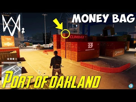 Money Bag above the shipping container | Port of Oakland | Watch Dogs 2
