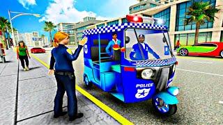 Police Tuk Tuk Auto Rickshaw Driving Game 2021 _ Top Police Tuk Tuk Rick Game _ Auto Android Game screenshot 5