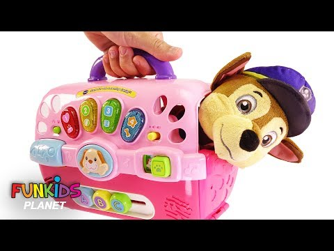Learn Color Videos For Kids: Paw Patrol Skye And Chase Dog Carriers Playset