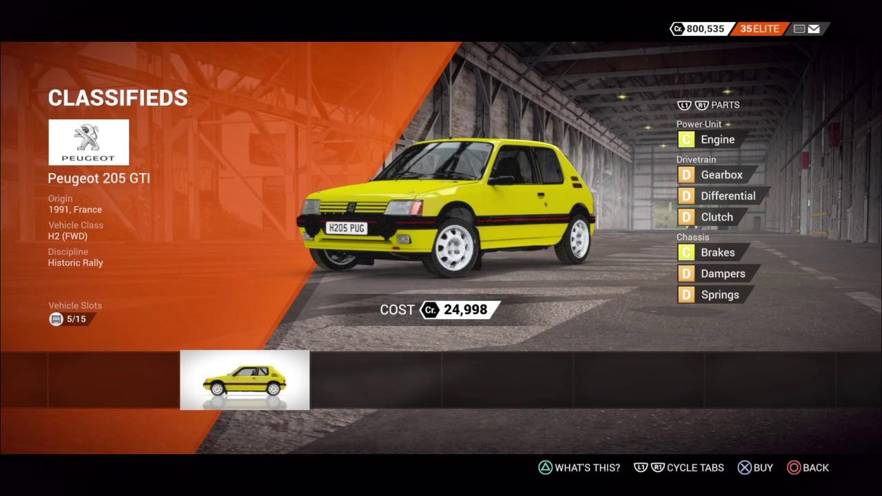 Dirt 4 Car List Youtube