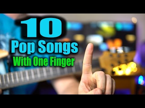 10 Classic Riffs! Only One Finger Needed!  Adele, John Mayer, Imagine Dragons, Linkin Park,