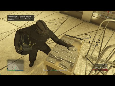 Stealing Diamonds: Silent & Sneaky Hard (Max Potential Take) - GTA Online - The Diamond Casino Heist