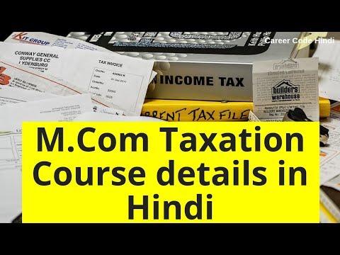 M.Com taxation degree Vicky Shetty