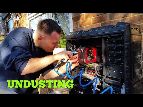 PC UNDUSTING - Best way to clean PC - Air Compressor