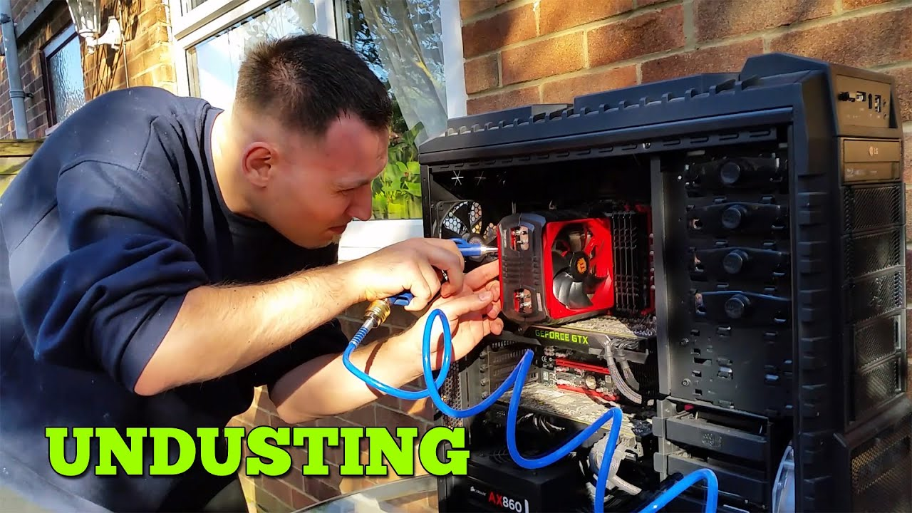 Pc Undusting Best Way To Clean Pc Air Compressor Youtube