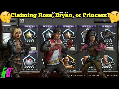 🤔CLAIMING: ROSE, BRYAN, OR PRINCESS?🤔 - Walking Dead Road to Survival