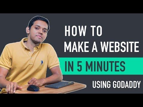 How To Make A Website In 5 Mins With Godaddy