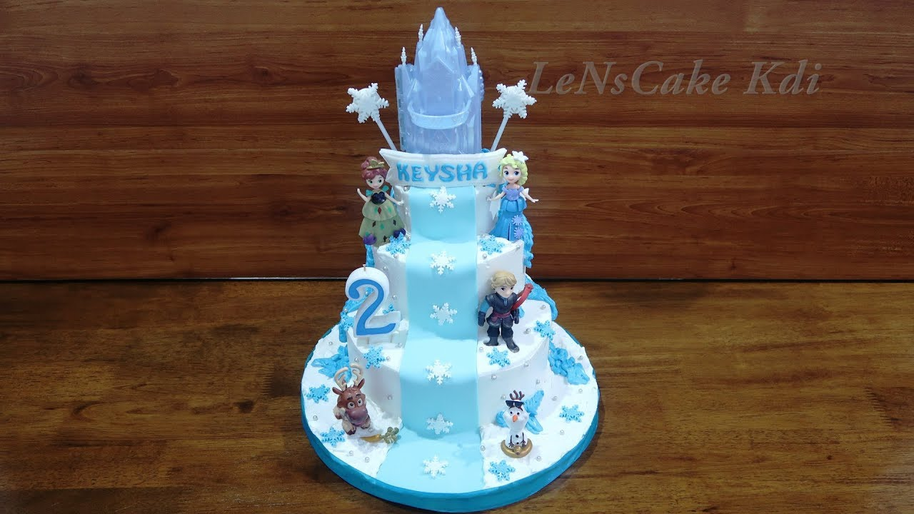 Happy Birthday Cake Layers Latest With Topper Toys Elsa Frozen