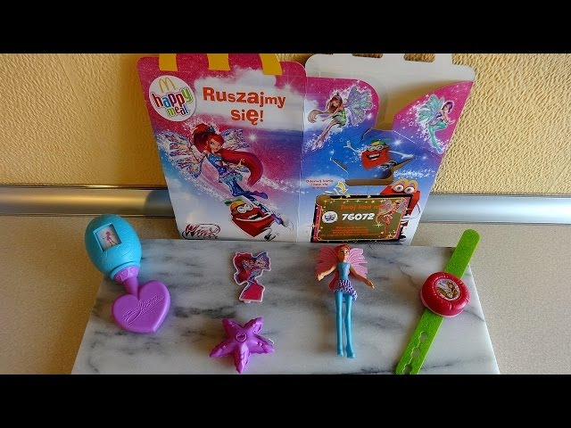 2014 Winx Club Toys Complete Set in Happy Meal McDonald's Europe Unboxing