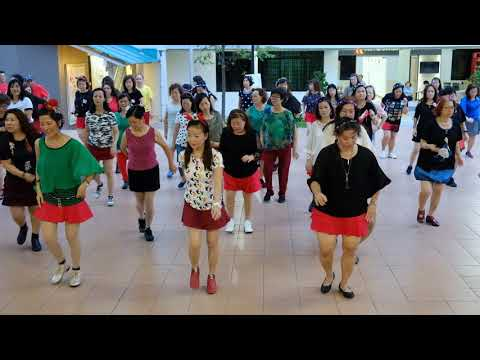 Ring Ring—Christmas Line Dance Party 9 Dec 2017 @ Tampines Changkat Zone 4 RC