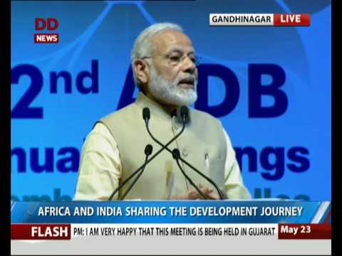 PM Modi addresses African Development Bank Annual meet at Gandhinagar
