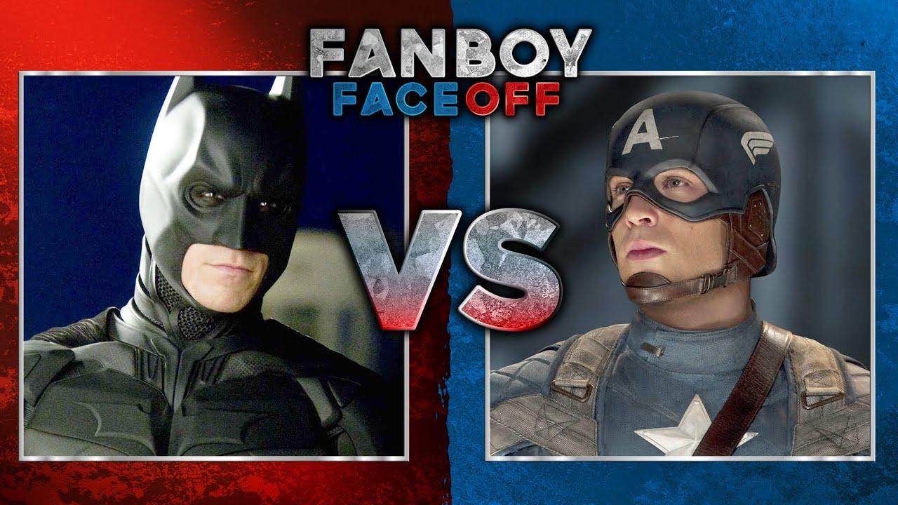 batman vs captain america fanboy faceoff batman iron man fanboy