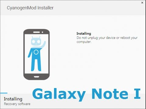Samsung Galaxy Note I N7000 update from stock to Cyanogenmod via  CyanogenMod Installer