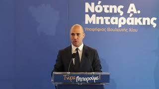 Χαιρετισμός Κωνσταντίνου Μπογδάνου στην Προεκλογική Ομιλία Νότη Μηταράκη στην Αθήνα