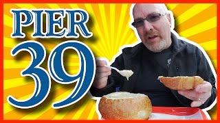 Clam Chowder in a Sourdough Bread Bowl - Pier 39 - San Francisco